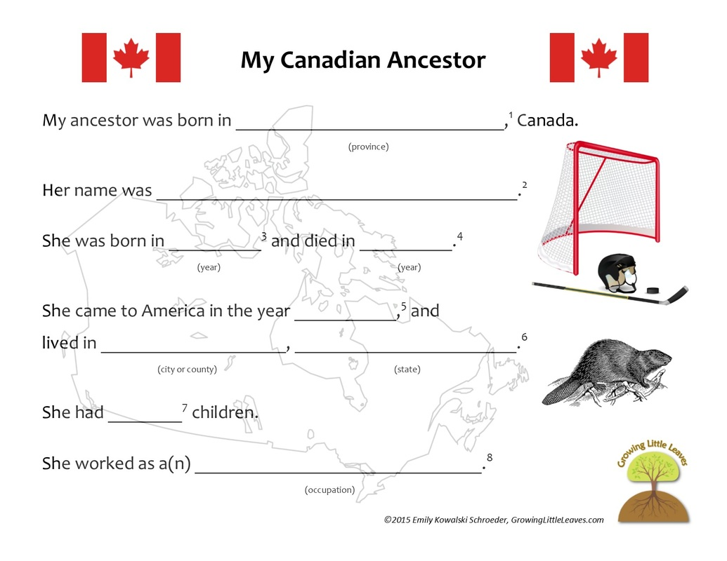 worksheet Canada Worksheets growing little leaves genealogy for kids the spiraling chains my canadian ancestor worksheet growinglittleleaves com