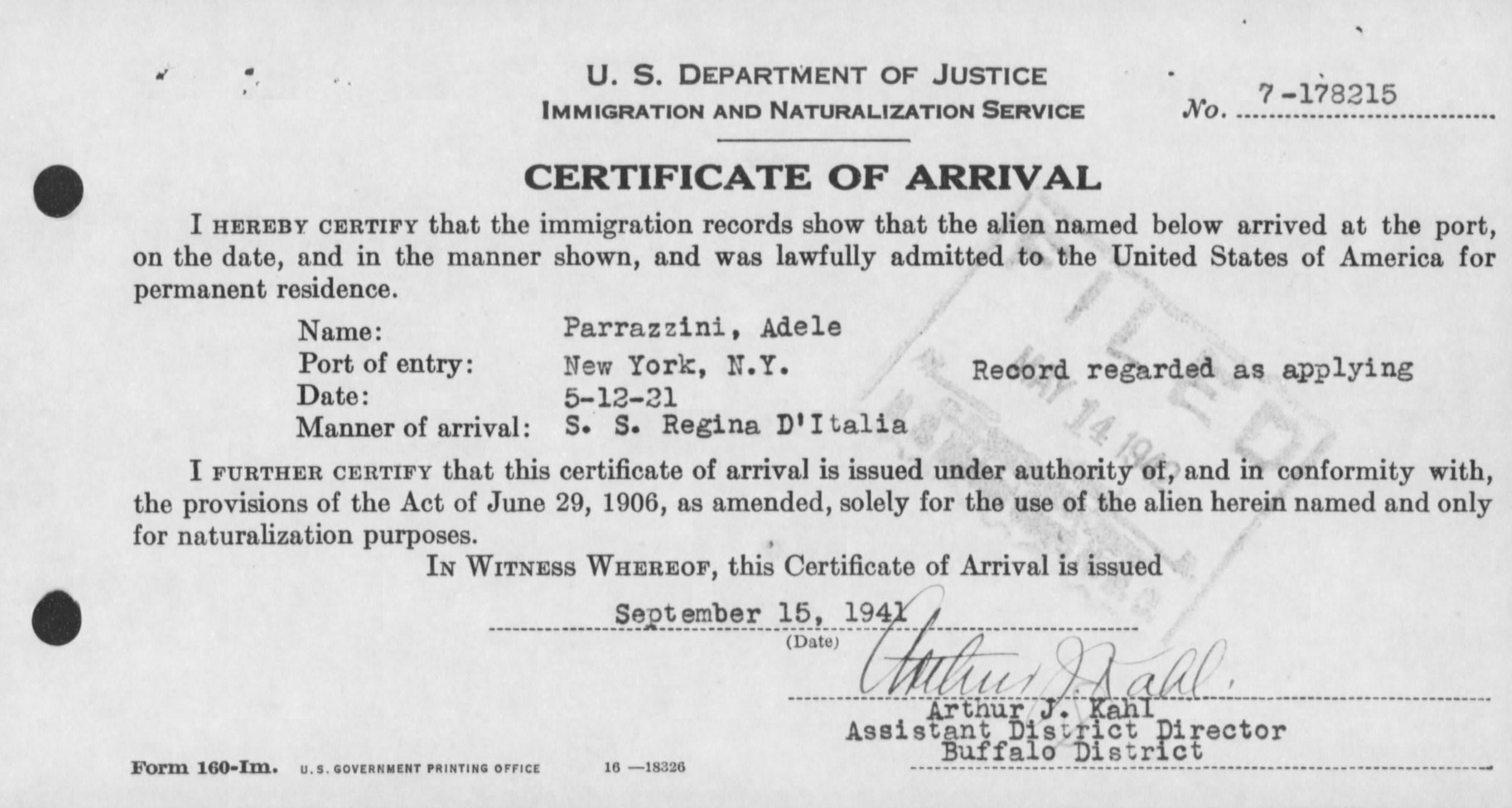 Licciardi Family Documents - The Spiraling Chains: Kowalski